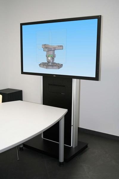 Bildschirm Rollstandfuss und Medienwagen